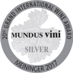 Medaglia d'Argento, 20° Grand International Wine Award - Mundus Vini 2017